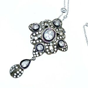 Sterling Silver Vintage Necklace And Pendant Gorgeous!