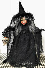 WITCH, STANDING, HALLOWEEN, COLLECTIBLE, HAND MADE POLYMER CLAY, DECORATION DOLL
