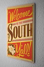 Tin Sign Nostalgic Motif  Welcome to the South Y'all