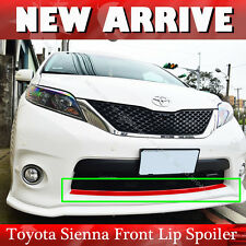 Painted RED Front Lip Spoiler For Toyota Sienna XL30 SE LE 2011-2018 PUF