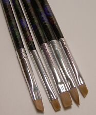 5 Small Detail Nylon Paint Brush Set for Acrylic, Decoupage, Glazes, Nail Art