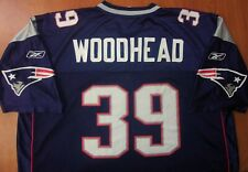 Vintage Reebok NFL New England Patriots Football Woodhead Authentic Jersey 2XL