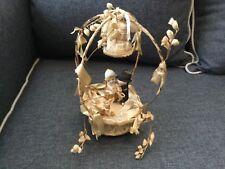 Antique Cake Topper Bisque Porcelain  Kewpie Bride and Groom Figurines On Altar