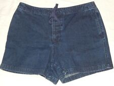 Shorts Copper Key XL (33x4) Dark wash Drawstring Waist Denim Jean Womens B13