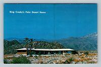 Palm Springs CA Bing Crosby's Home Silver Spur Ranch, Chrome California Postcard