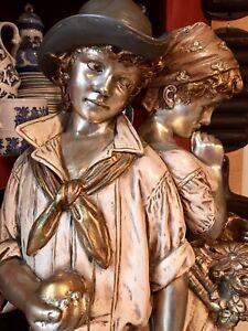 5ft. Marbro Lamp Company-figural 19th Century Boy N Girl