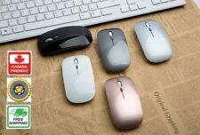 2.4GHz Wireless Mini Optical Slim Mouse Mice for MacBook Laptop PC Black Silver