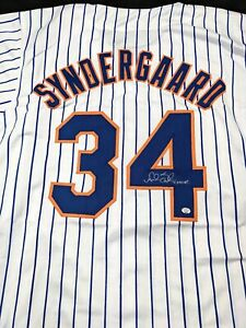 Noah Syndergaard New York Mets Autographed Signed Jersey Large COA