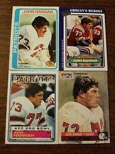 4 Card Lot Of John Hannah - New England Patriots