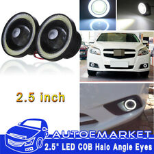 2.5'' Angel Eye COB White Halo Ring LED DRL Projector Len Fog Driving Light SUV