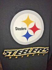 Pittsburgh Steelers NFL TEAM APPAREL  T-Shirt Black Yellow White LARGE  B13 2
