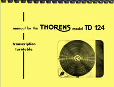 Thorens TD 124 TD-124 Turntable OWNER'S MANUAL and SERVICE MANUAL