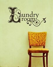 Removable Laundry Room Art Words Vinyl Wall Decal Art Sticker Home Decal X1148