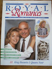 ROYAL ROMANCES MAG 22 KING HUSSEIN & QUEEN NOOR JORDAN USA  AFFAIR IN HISTORY