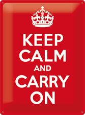 Keep Calm et transporter sur XL Panneau métallique 30x40 cm 23183