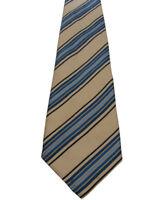 CHARLES TYRWHITT Tie Gold - Blue Stripes