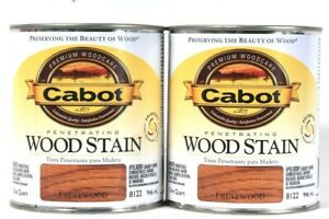 2 Cabot 32 Oz Penetrating Wood Stain 8122 Fruitwood Colorfast Fade Resistant