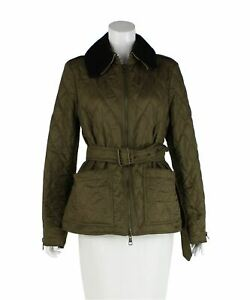 BURBERRY BRIT Khaki Quilted Jacket, Size M