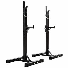 Support Repose Barre musculation pour haltères longs à disques. max env 100kg