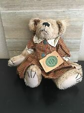 """Boyds Bears 10 inch Fully Jointed """" Louella Big Ear"""" Mint With Tags *rare*"""