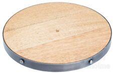Industrial Kitchen Round Wooden Trivet / Teapot Hot Pots & Pan Stand Holder