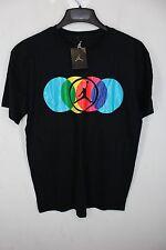NEW Air Jordan Nike short sleeve cotton T Tee shirt Large Black NWT #2060 - 61