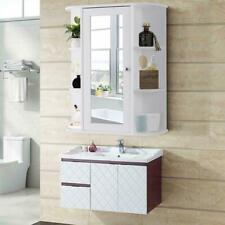 Home Bathroom Wall Mount Cabinet Storage Shelf Over Toilet w/ Mirror Door