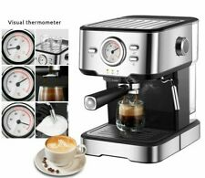 Espresso Coffee Machine Inox Semi Automatic Expresso Make Visual Thermometer