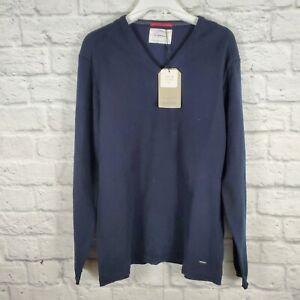 Zara Navy Blue V neck Pullover Knitwear Sweater Boys Size 13-14