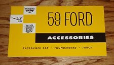1959 Ford Accessories Sales Brochure Passenger Car Thunderbird Truck 59