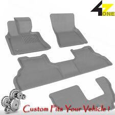 3D Fits 2009-2013 BMW X5 G3AC72605 Gray Carpet Front, Rear and Third Row Car Par