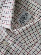 Cordings cotton wool blend cream window pane check shirt Size 18-46  2XL