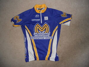 PACTIMO Cycling Jersey Multisport Madness Triathlon Team Fox River Blue Yellow M