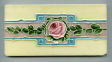 "Relief moulded 6""x3"" Art Deco border tile by Henry Richards, c1920"