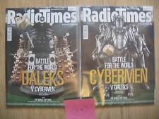 DOCTOR WHO 2x RADIO TIMES 2006 ~ DALEKS v CYBERMEN ~ WORLD CUP FINAL
