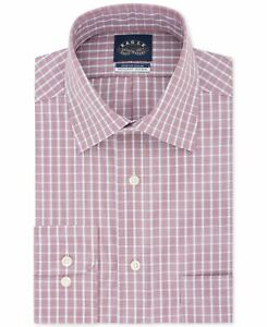 Eagle Mens Dress Shirt Classic Red Size 17 1/2 Regular Fit Stretch $69- #263