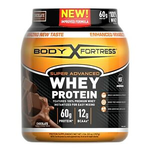 Body Fortress Super Advanced Whey Protein Powder, Chocolate, 60g Protein, 2lb
