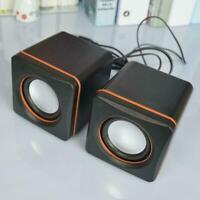 2x Portable Computer Speakers USB Powered Desktop Mini Laptop Speaker PC C1R5