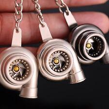 Car Spinning Turbo Turbine Keychain Key Chain Ring Keyring Keyfob Creative Gift