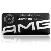 AUTOCOLLANT STICKER 3D METAL MERCEDES-BENZ AMG EDITION DIM. 8,9 X 4,3 CM