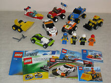 8 Lego Vehicles. City & Racers Sets With 4 Minifigures.