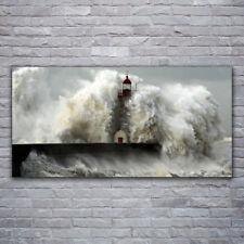 Glasbilder Wandbild Druck auf Glas 120x60 Leuchtturm Landschaft