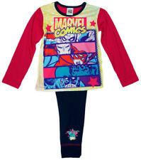 Pyjamas multicolores coton mélangé à longueur de manches manches longues pour fille de 2 à 16 ans