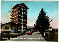 Cartolina Cumiana - L'Ingresso Del Paese Con Il Nuovo Palazzo E Le Ville Viaggia