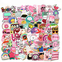 110Pcs PVC Waterproof Pink Girls Funny Sticker Toys For Luggage Skateboard Car