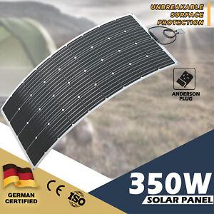 350W 12V Flexible Solar Panel Kit Mono Waterproof Caravan Camping Power Battery