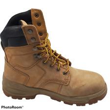 Herman Survivors Mens Steel Toe Construction Work Boots 6 Wide Beige