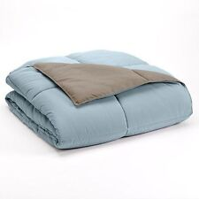 Home Classics Down Alternative Reversible Comforter - Blue/Brown - Twin - NEW