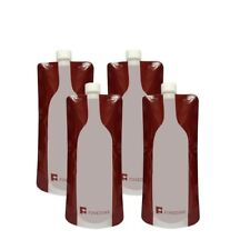 FineDine Reusable, Foldable , Flexible Plastic Wine Bag Flask (4)