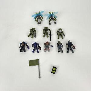 Halo Mega Bloks 10 Figures and Weapon lot